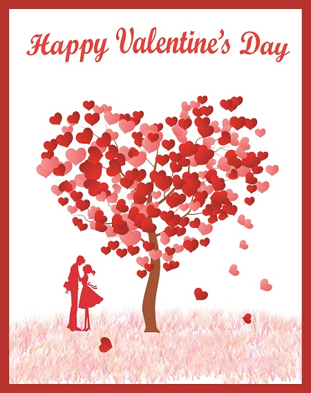 How to draw a Valentine tree greeting card - Image 5