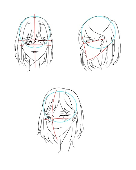 How to draw anime face - Image 3