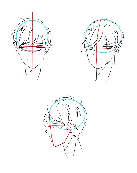 How to draw anime boy's face - Image 3