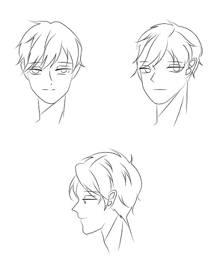 How to draw anime boy's face - Image 4