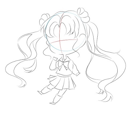 Draw a chibi sailormoon in 7 quick steps - Image 4