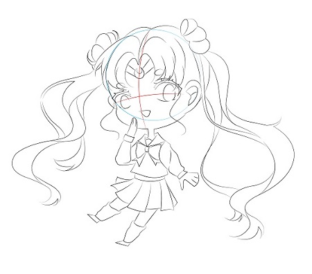 Draw a chibi sailormoon in 7 quick steps - Image 5
