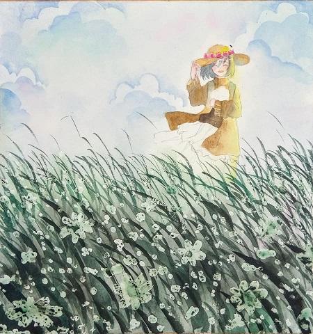 Step by step - Vẽ cánh đồng hoa - Ảnh 4