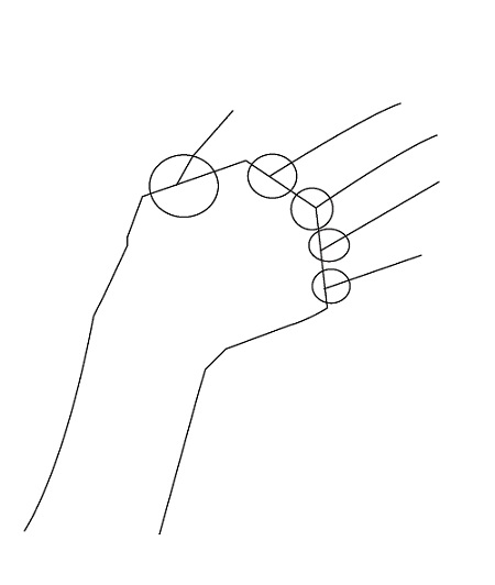 How to draw hands - step by step - Image 1
