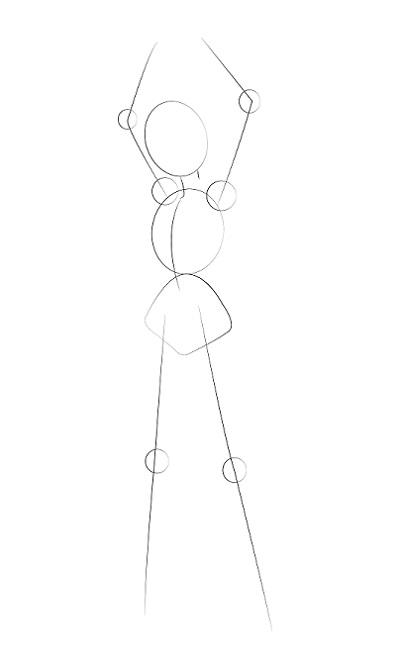 Step by step - draw a girl in cool style - Image 2