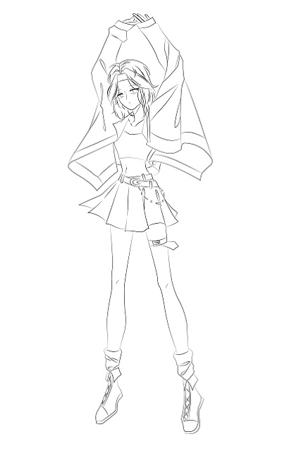 Step by step - draw a girl in cool style - Image 6