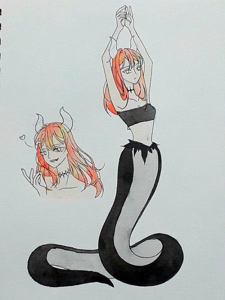Các bước tô tranh anime bằng màu nước - Ảnh 2