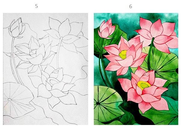 Hướng dẫn vẽ hoa sen tưởng không dễ mà dễ không tưởng với vài bước đơn giản - Ảnh 2