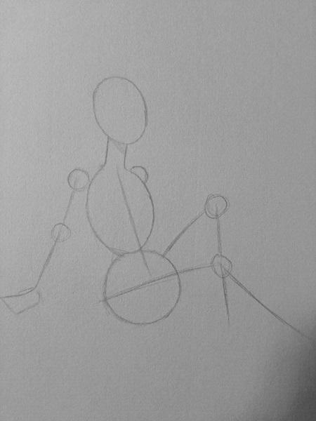 Vẽ màu nước - cô gái trong tư thế ngồi - Ảnh 1