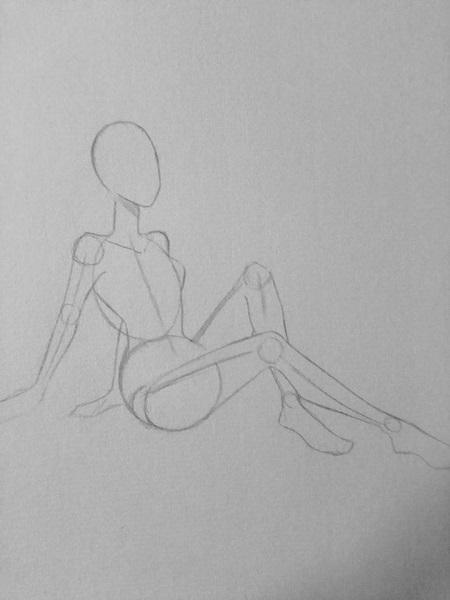 Vẽ màu nước - cô gái trong tư thế ngồi - Ảnh 2