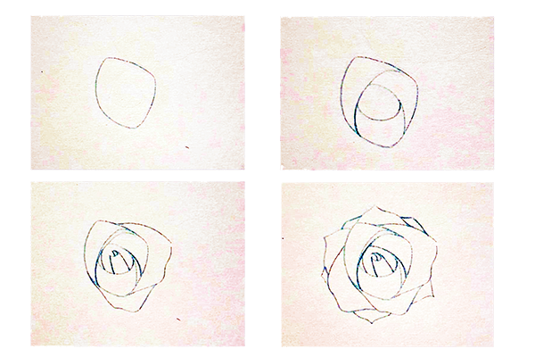 Watercolor painting step by step - How to draw roses - Image 1