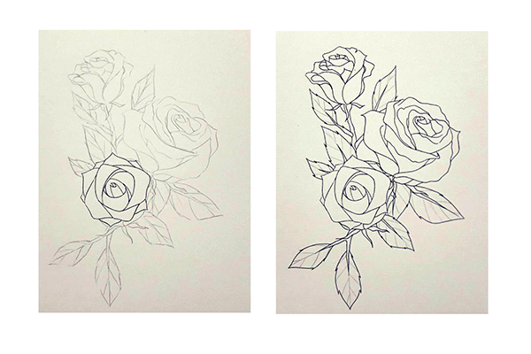 Watercolor painting step by step - How to draw roses - Image 3
