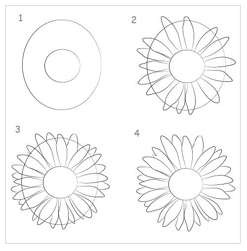 Cách vẽ hoa hướng dương nhanh và đẹp - Ảnh 1